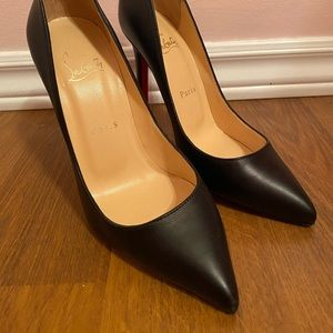Christian Louboutin Black Leather So Kate 120mm